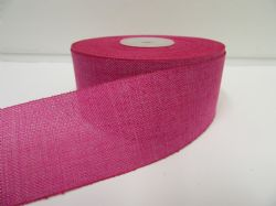 2 metres or 20 metre Fuchsia Bright Pink Roll 38mm Vintage Hessian Burlap Ribbon Double sided